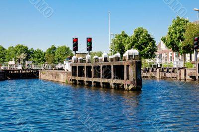 Lock near Bilderdam Holland