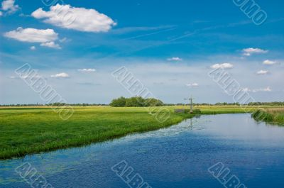 Dutch polder landscape
