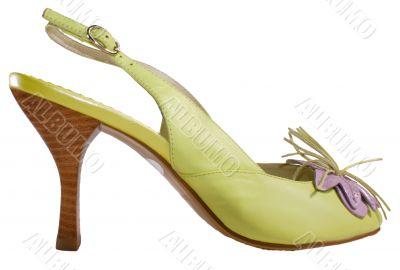 Lightgreen  shoe on high heel