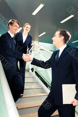 Meeting business partner