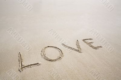 "The inscription ""Love"""