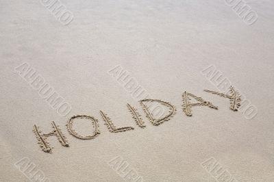 "The inscription ""Holiday"""