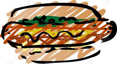 Hot dog sketch