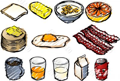 Breakfast sketch