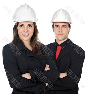 Two young engineers