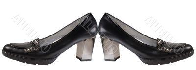 Black seasonal shoes