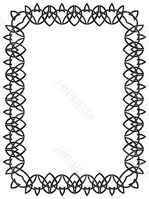 black border with celtic ornament 6