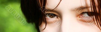 gaze of woman