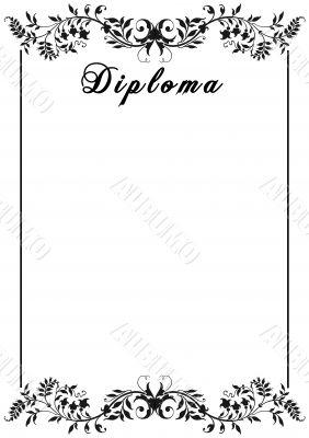 Diploma. Decorative framework