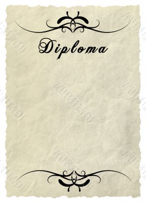 Diploma - Decorative framework.