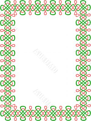 green-and-red celtic border 8