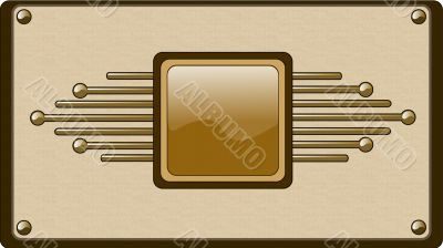 Hi-tech button