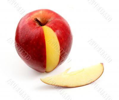 Apple and bit of apple