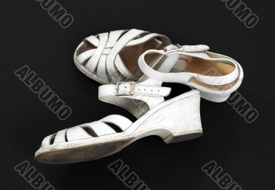 Old shabby dance shoes