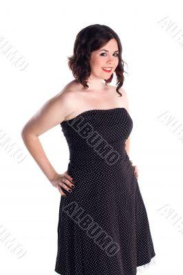 cute girl in polka dot dress