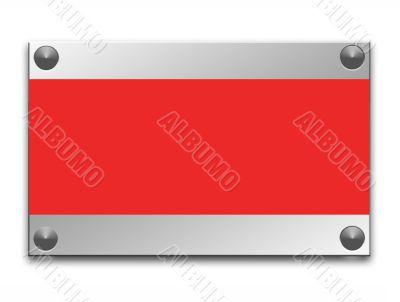 Metallic border