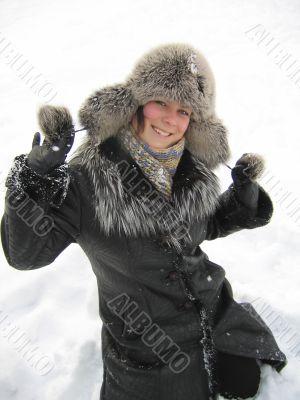 Pleasure in snow