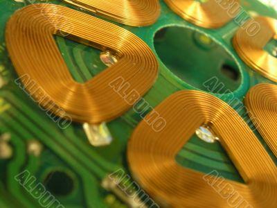 Abstract macro of hard drive pcb