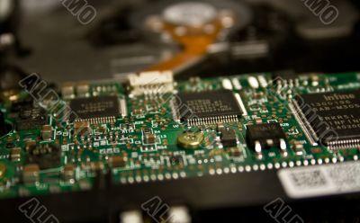 Close Up of Hard Drive Circuit Board