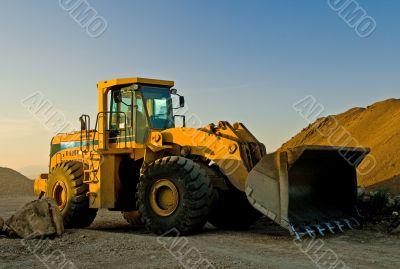 Bulldozer at Gravel Pit