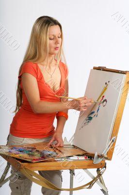 Blonde artist