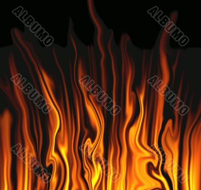 Abstraction flame background