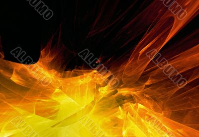 Abstraction fiery background