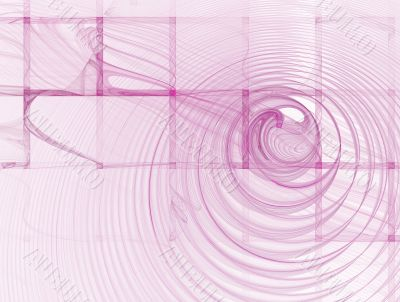 Abstract Square Pink Background on White