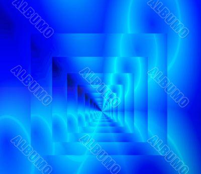 Blue neon infinity