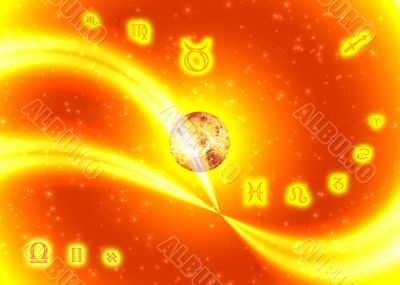 Space horoscope. Signs on the zodiac