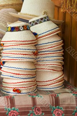 Stack of Romanian hats
