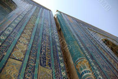 Middle East mausoleum facade