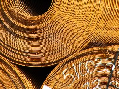 Coiled Wire Mesh Rusted