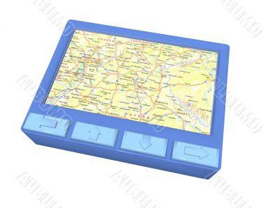 blue gps device