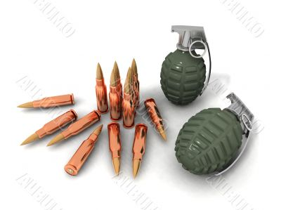 bullets and hand grenades