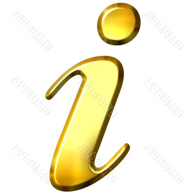 3D Golden Information Symbol