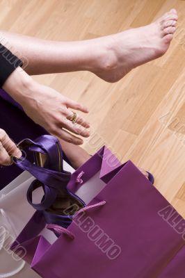 Women shopping shoes