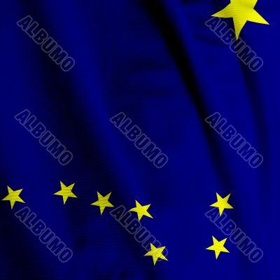 Alaska Flag Closeup