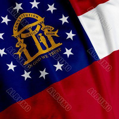 Georgia Flag Closeup