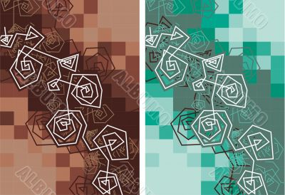 abstract elements,Linear forms, brown, green