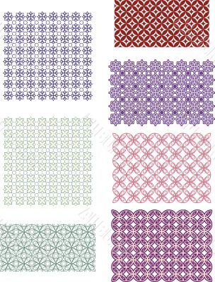 colored decorating elements for background