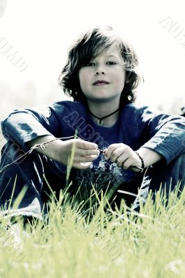 Sturdy young boy