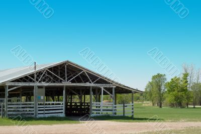 Empty Cattle Barn