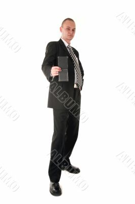 Financial inspector in business outfit