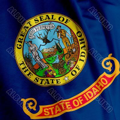 Idaho Flag Closeup