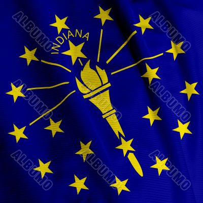 Indiana Flag Closeup