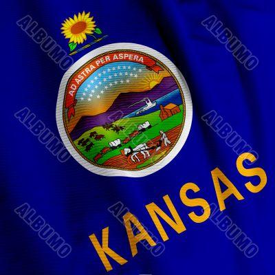 Kansas Flag Closeup