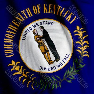 Kentucky Flag Closeup