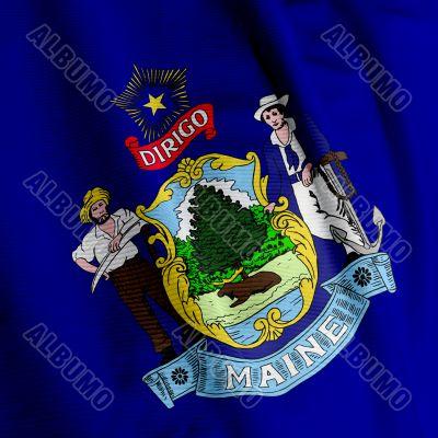 Maine Flag Closeup