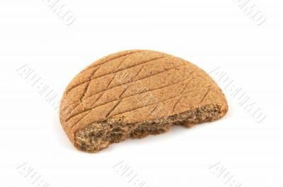 Piece of a rye flat cake